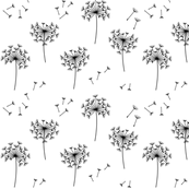 dandelions 2 for mom black and white
