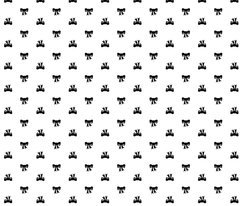 mod girl bows fabric by misstiina on Spoonflower - custom fabric