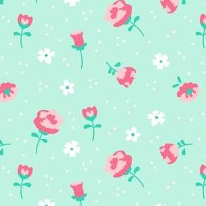 mod girl floral mix