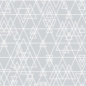 mod girl geo triangles grey