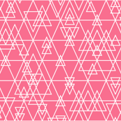 mod girl geo triangles pink