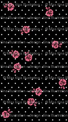mod girl roses pink
