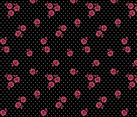 mod girl roses pink fabric by misstiina on Spoonflower - custom fabric