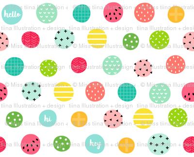 hello hi hey dots :: fruity fun - xsm