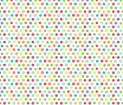 hello hi hey dots :: fruity fun - xsm fabric by misstiina on Spoonflower - custom fabric