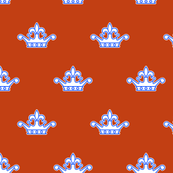 Royal Bumble Bee Crown in Orange and White