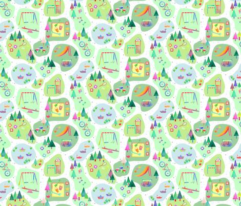 Park Map fabric by emeryallardsmith on Spoonflower - custom fabric