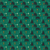Tribal bear green
