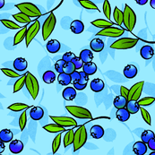 Blueberry Floral