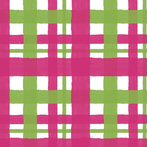 Pink_Yarrow_and_Greenery_Plaid