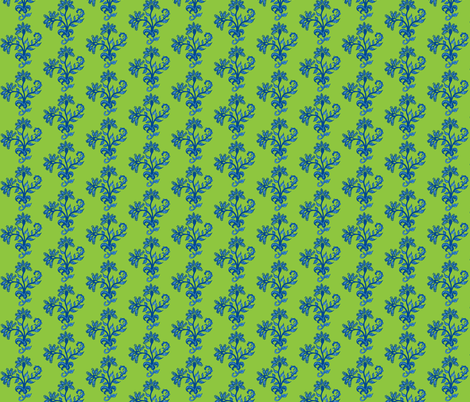 Third Tier Bouquet Sky Blue Lime Navy fabric by serendipity_textiles on Spoonflower - custom fabric