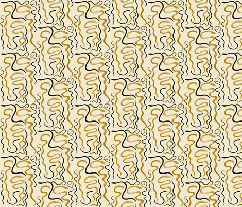 Slithering on the Beach Sand fabric by rhondadesigns on Spoonflower - custom fabric