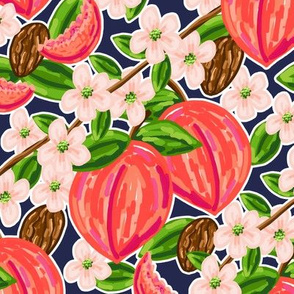 Southern_Peaches_on_Navy_Spoonflower_JPG
