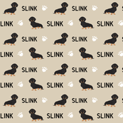 custom dachshund pet name fabric
