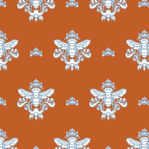 Royal Bumble Bee in Blue and Orange
