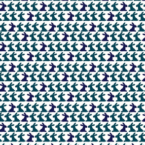 Bunnies: Teal and Purple