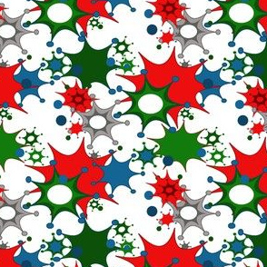 Christmas stars and splats