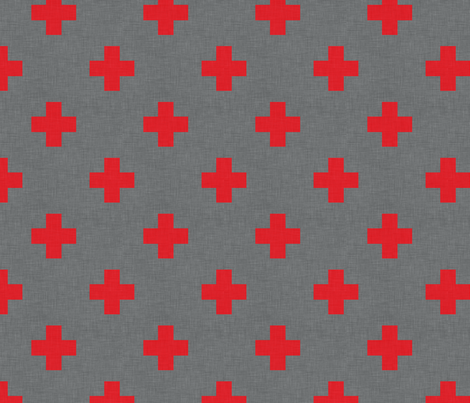 plus_one_red_spaced fabric by holli_zollinger on Spoonflower - custom fabric