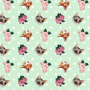 Hippy Kitty Floral
