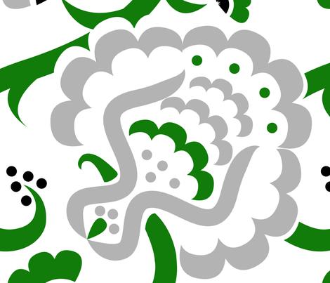 BoldSeed-GREEN fabric by happyhappymeowmeow on Spoonflower - custom fabric