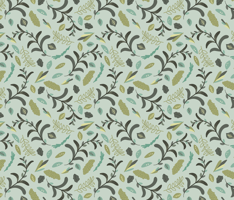 Thicket Vines Leaves fabric by deniseanne on Spoonflower - custom fabric