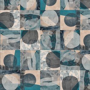 Timber tiles 1 // blue-grey-teal