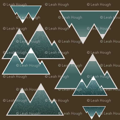 Rustic Teal Mountains