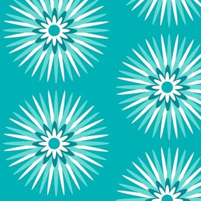teal spiky pop