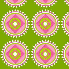 chartreuse pink circle