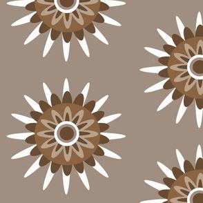 tan brown floral