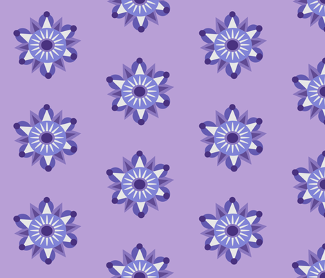 lilac mandala fabric by dnbmama on Spoonflower - custom fabric