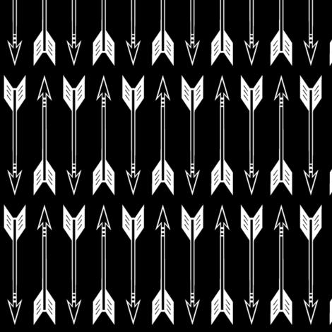 arrows // black fabric by littlearrowdesign on Spoonflower - custom fabric