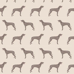 weimaraner dog fabric simple dog design  - cream