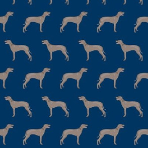 weimaraner dog fabric simple dog design  - navy