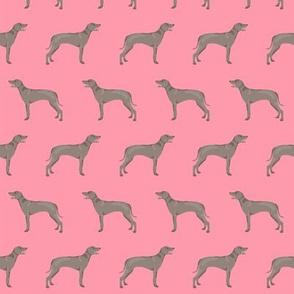 weimaraner dog fabric simple dog design  - pink
