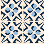 Clover tea towel - blue