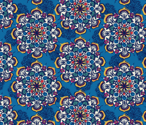 Mandala pattern 5 fabric by laura_may_designs on Spoonflower - custom fabric