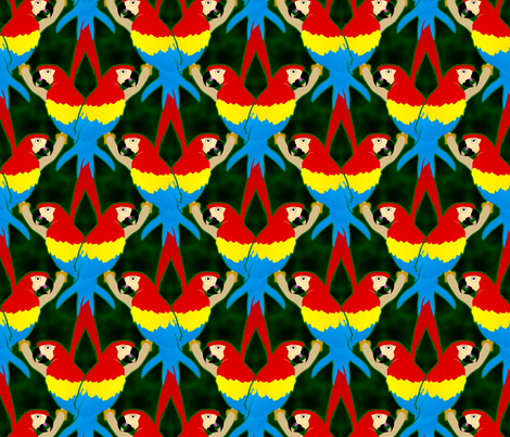 macaw fabric by hannafate on Spoonflower - custom fabric