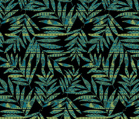 patterned palm fabric by laura_may_designs on Spoonflower - custom fabric