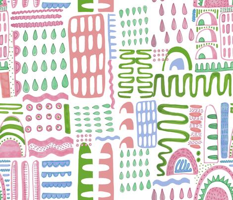 Pastel Pen Geo fabric by slumbermonkey on Spoonflower - custom fabric
