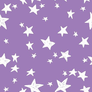 stars // amethyst purple star fabric nursery baby star design andrea lauren fabric