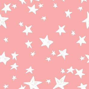 stars // ballerina pink star fabric nursery baby girls design andrea lauren