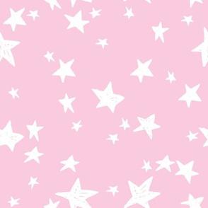 stars // bubblegum pink star fabric girls baby nursery design andrea lauren fabric