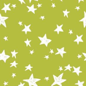 stars // celery green star fabric nursery baby design andrea lauren fabric