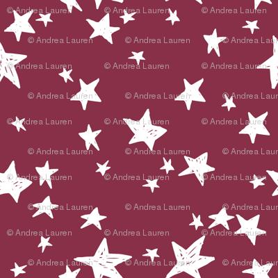 stars // cranberry red star fabric stars design andrea lauren fabric