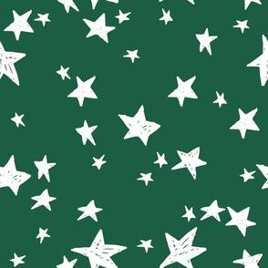 stars // forest green star fabric andrea lauren design nursery baby stars fabric