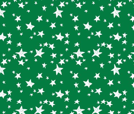 stars // kelly green star fabric andrea lauren design fabric by andrea_lauren on Spoonflower - custom fabric