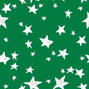 stars // kelly green star fabric andrea lauren design