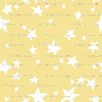 stars // lemon yellow star fabric pastel yellow design andrea lauren fabric