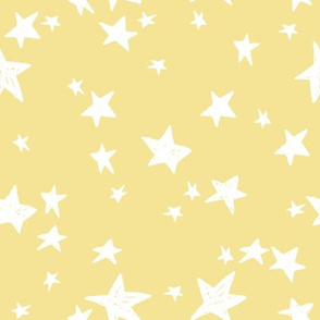 stars // lemon yellow star fabric pastel yellow design andrea lauren fabric